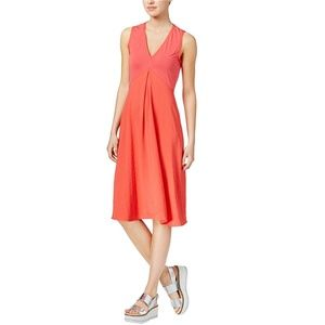 Rachel Roy A Line Sleeveless V Neck Coral Dress